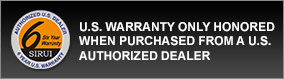 U.S. Warranty Only Honored When Purchased from a U.S. Authorized Dealer