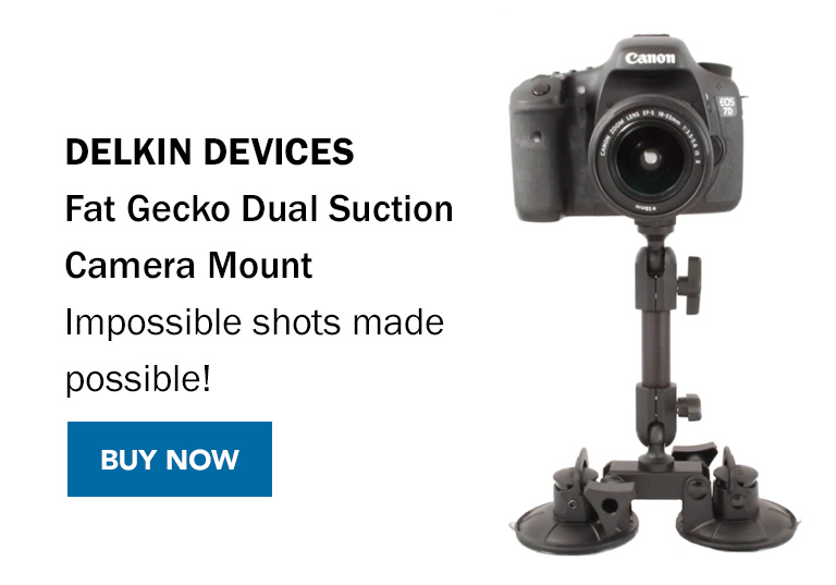 Delkin Devices - Fat Gecko Dual Suction Camera Mount - Impossible shots made possible! Buy Now