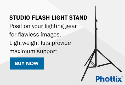 Studio Flash Light Stand - Position your lighting gear for flawless images. Lightweight kits provide maximum support. Buy Now