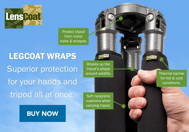 LegCoat Wraps | Superior protection for your hands and tripod all at once. Buy Now