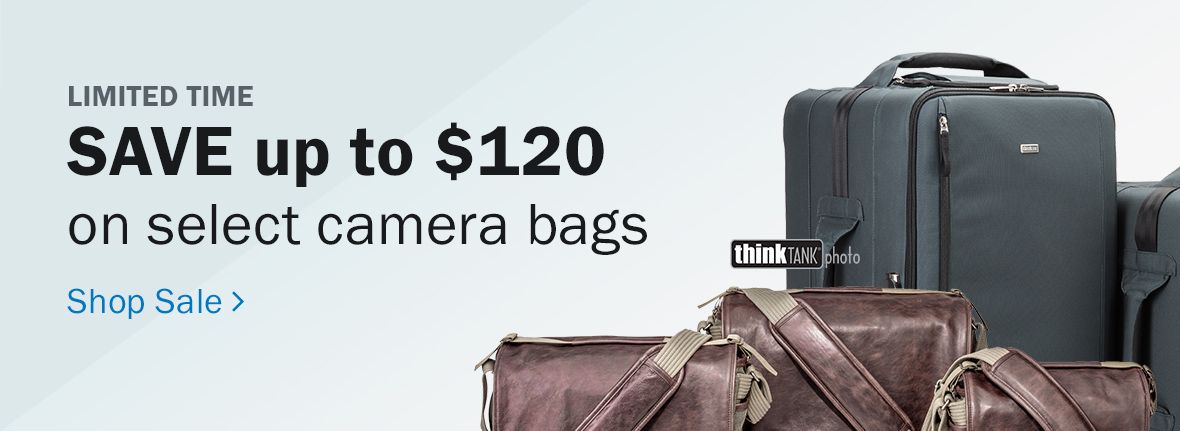 Limited Time! Save up to $120 on select camera bags by Think Tank Photo. Shop Sale >