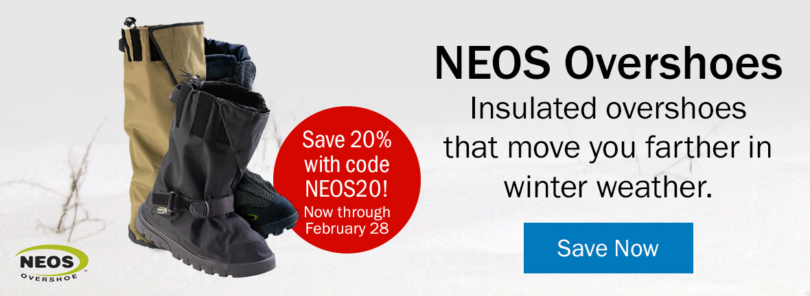 NEOS Overshoes | Insulated overshoes that move you farther in winter weather. Save 20% with code NEOS20! Ends February 1. Save Now >