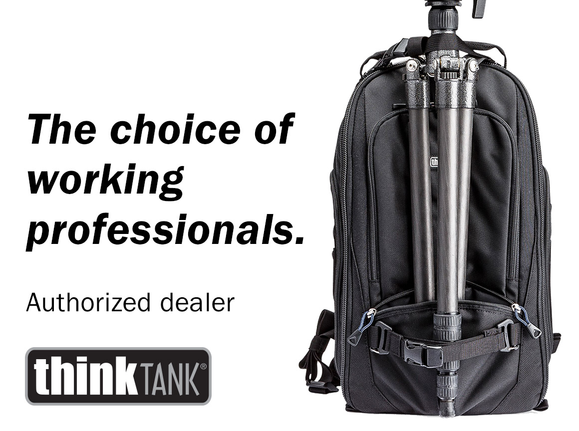The choice of working professionals. Authorized dealer of Think Tank Photo.