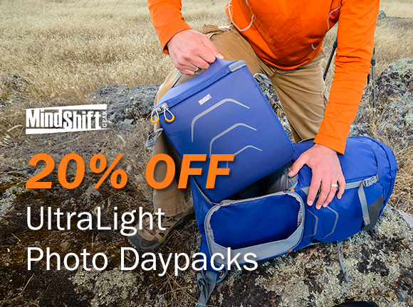 20% Off UltraLight Photo Daypacks by MindShift Gear
